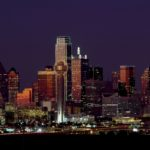 Dallas skyline at night